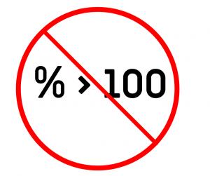 No %>100